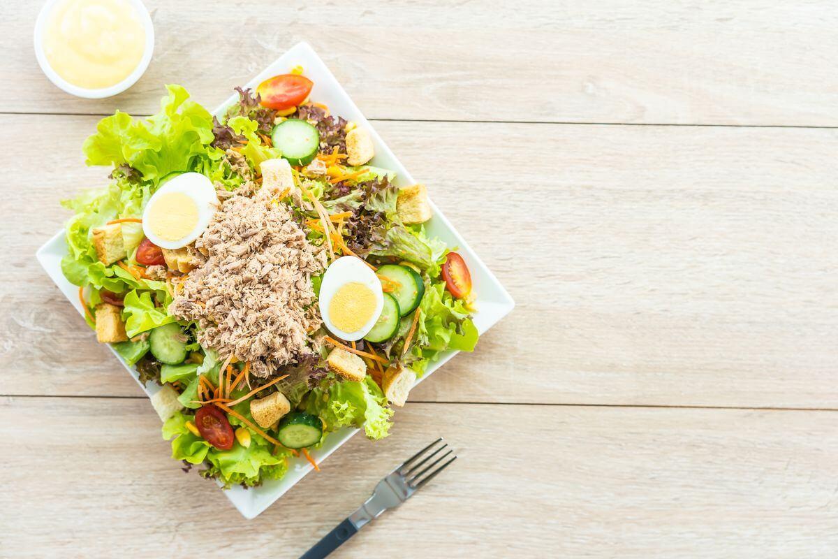 Білковий салат для сушіння за 5 хвилин: 77 ккал
