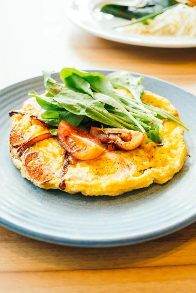 Жиросжигающие білковий сніданок — скрэмбл з черрі і халапеньо